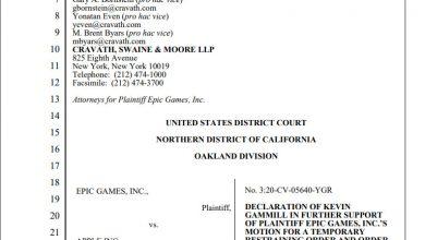 Photo of Microsoft、AppleおよびEpic Gamesの対立について、開発者とプレイヤーの保護の観点から、Epicのかよ。 連邦地裁に声明を提出